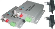 TosiTech Video + RS485 Glasfaserüberträger (Set) 4 km für PAL-Kameras