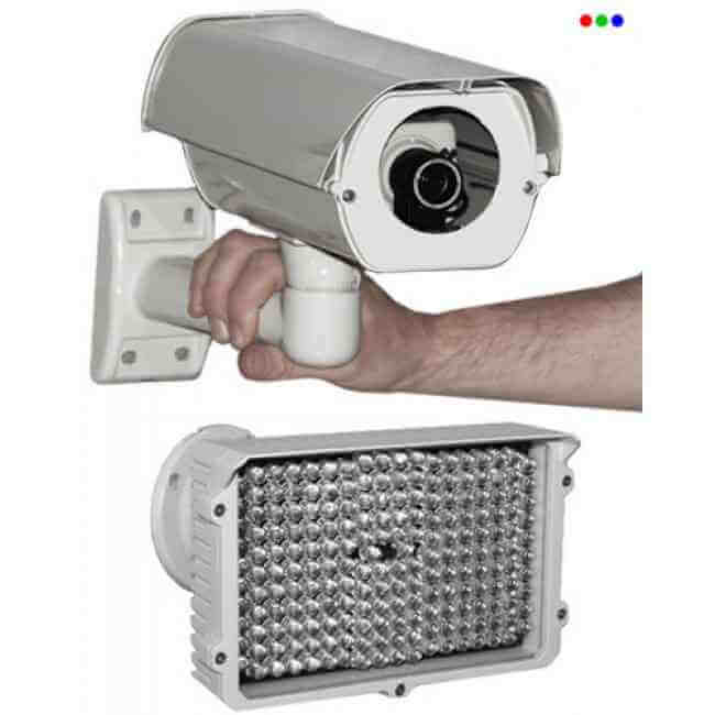 Kamera mit externen IR-Scheinwerfern