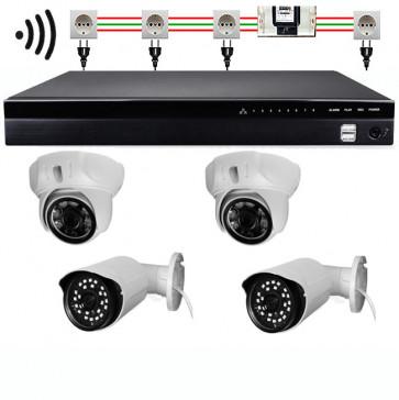 DRAHTLOS TosiStrom 1K 2MP Set 4 Kameras (reduzierbar) + Rekorder