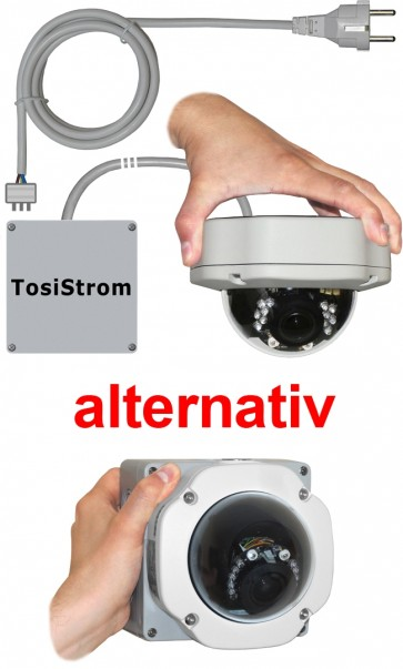 "TosiStrom-extern 2K 4MP Realtime Dome-Kamera ""IR-Vario-Outside"""
