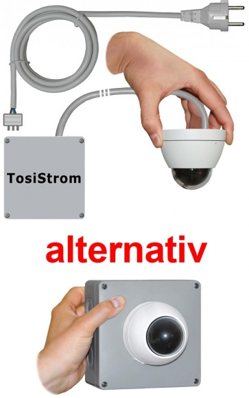 """TosiStrom-extern 1K 2MP Powerline-Dome """"Mini Dome Outdoor"""""""