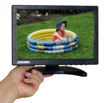 "TosiVision 25,6 cm / 10,1"" LCD-Monitor, HDMI/VGA/Video IN"