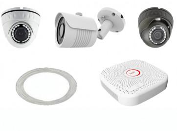 Analog-Kabel 1K 2MP Videoüberwachung Set 4x Kamera auf 1-3 reduzierbar mit Rekorder