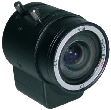 TosiView Megapixel 2,8-12 mm Vario-DC-Objektiv bis 4MP verwendbar
