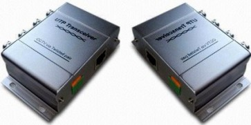 -> ABVERKAUF! TosiTech 4fach Zweidrahtüberträger (CAT5) für PAL-Kameras