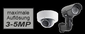 3 – 5 MP HD-Netzwerkkameras