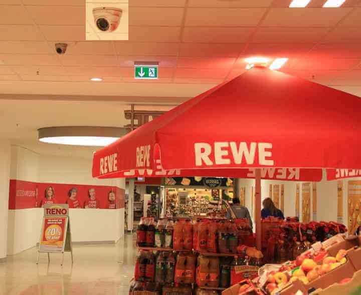 Videoüberwachung-Supermarkt
